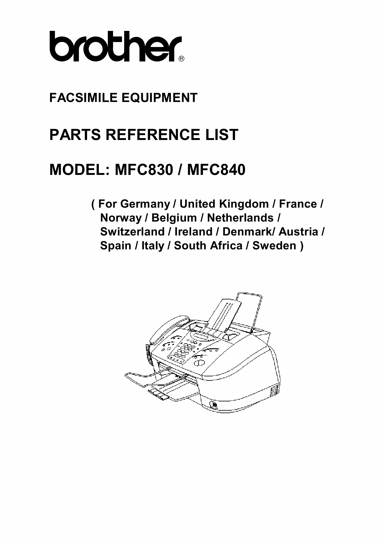 Brother MFC 830 840 Parts Reference-1